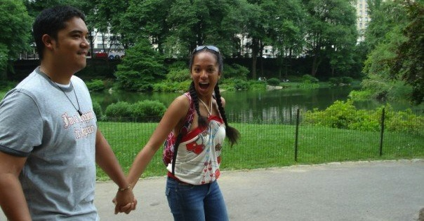 Might look something like this (Sibling2 & I in Central Park,   way-too-long-ago)