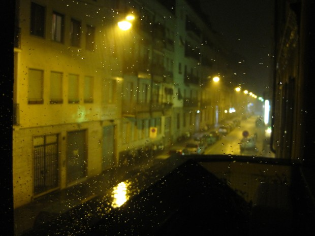 Again, my window, this time last year in Milan -- The night it rained golfball-sized hail